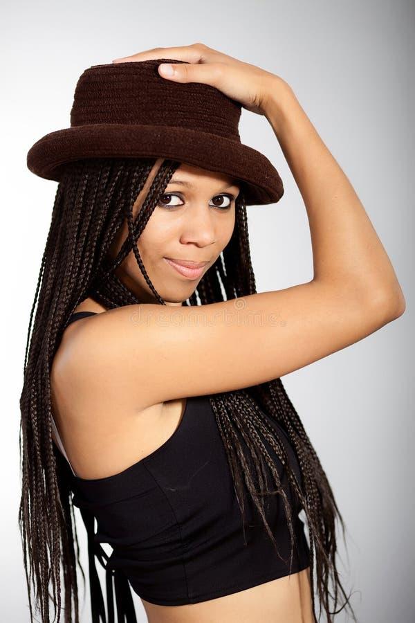 Belle fille afro-américaine photos libres de droits