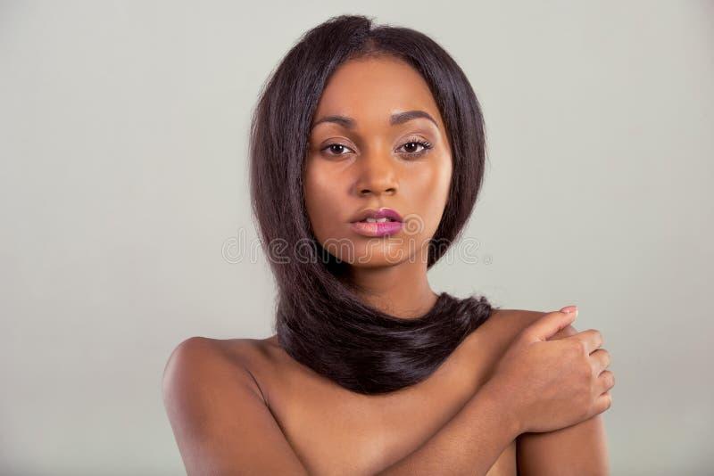 Belle fille afro-américaine images libres de droits
