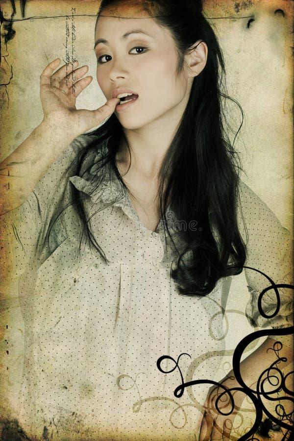 Belle fille asiatique photos libres de droits