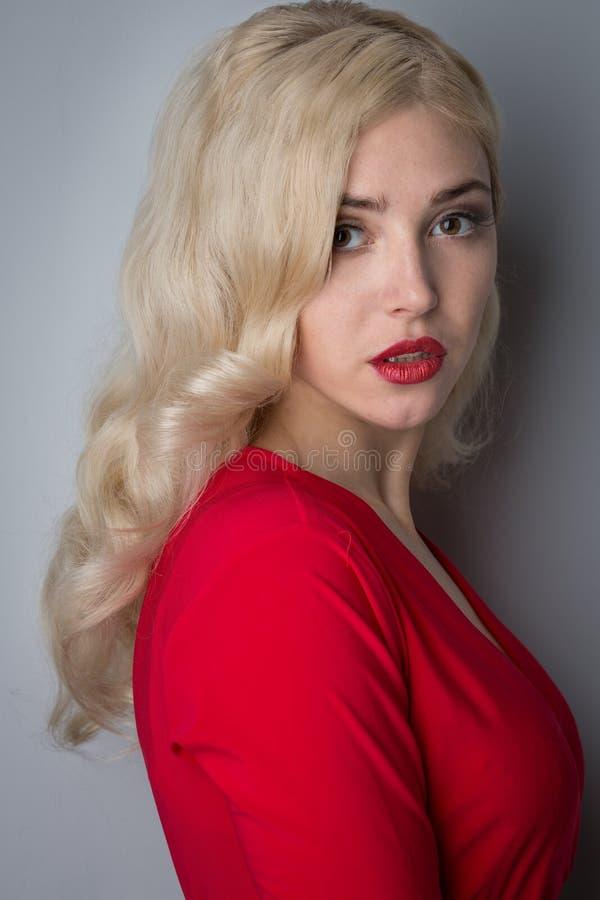 Belle fille avec le cheveu la soirée photo libre de droits
