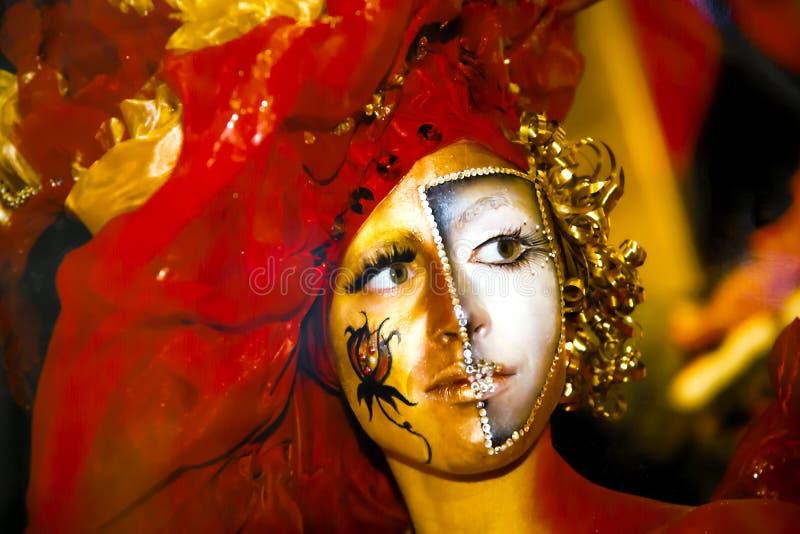 Belle fille avec le maquillage artistique images libres de droits