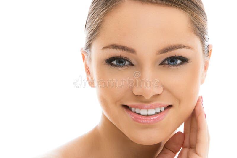 Belle fille avec le visage parfait images libres de droits