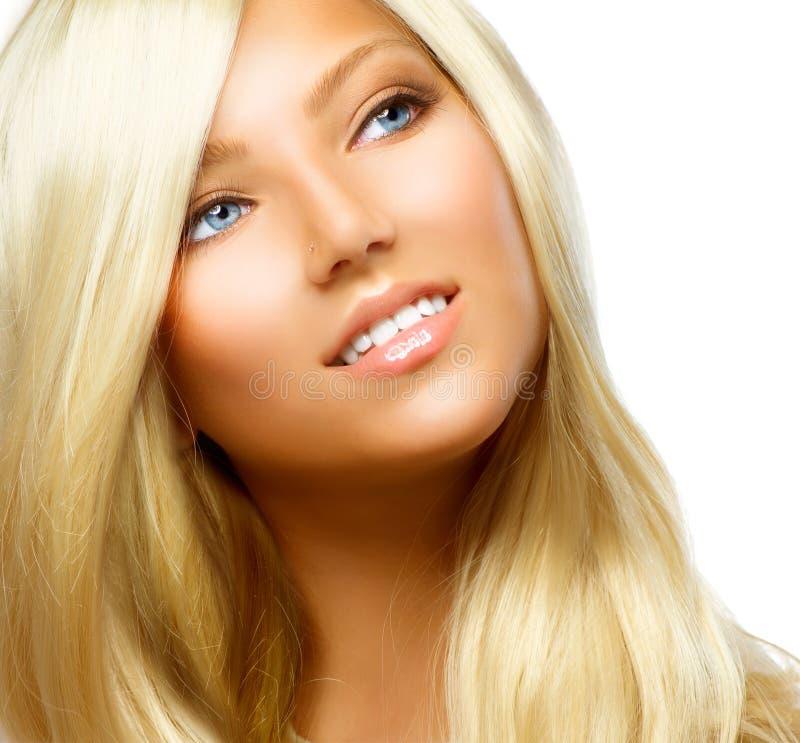 Belle fille blonde photo stock