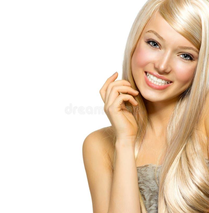 Belle fille blonde image libre de droits