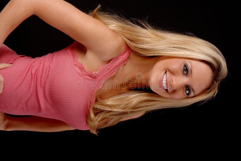 Belle fille blonde image stock