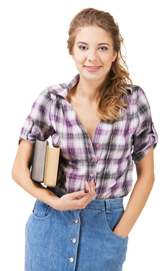 Belle fille d'étudiant image libre de droits