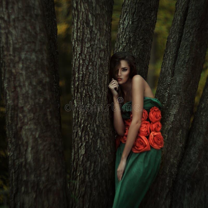 Belle fille dans un endroit mystérieux photo libre de droits