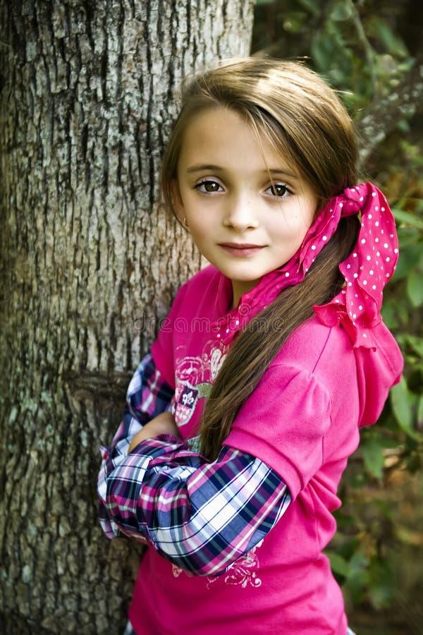 Belle fille de Brunette photo libre de droits
