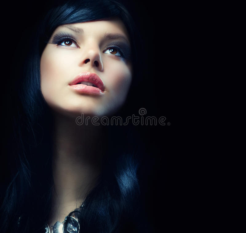 Belle fille de Brunette image stock