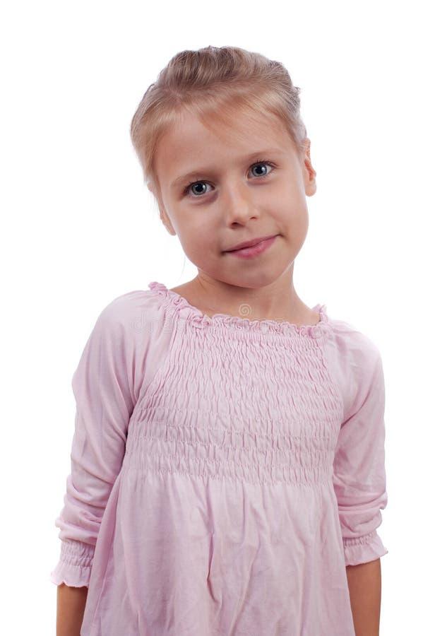 Belle fille dans une robe rose photos libres de droits