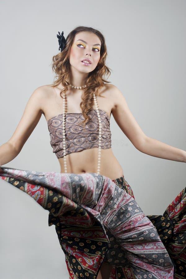 Belle fille de danse images stock