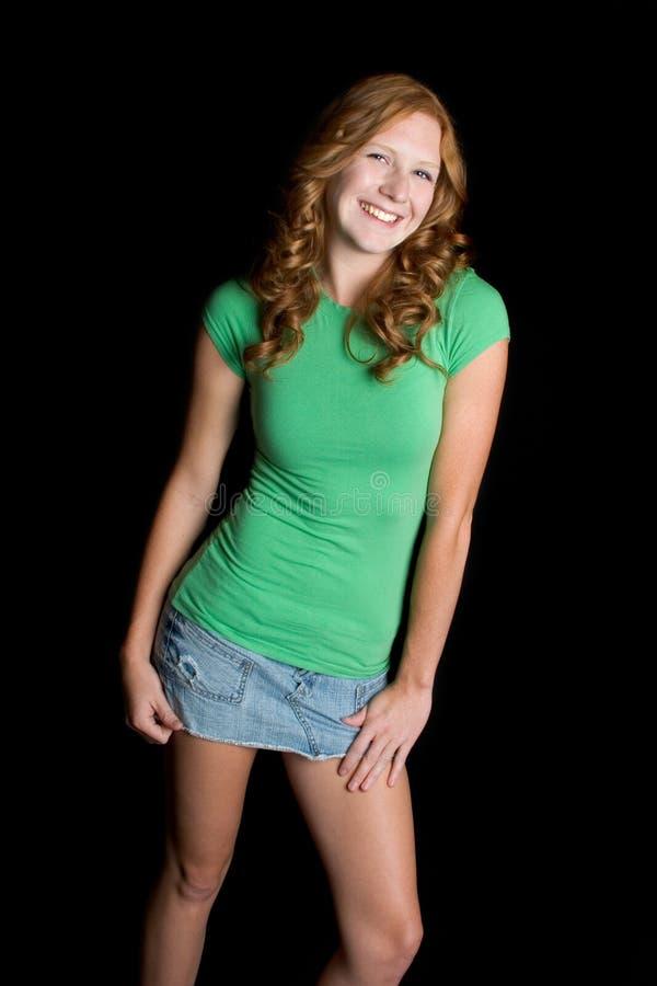 Belle fille de l'adolescence de sourire photos stock