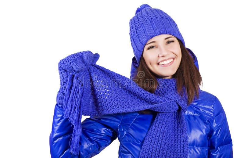 Belle fille de l'hiver. image stock