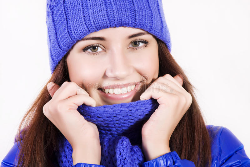 Belle fille de l'hiver image libre de droits