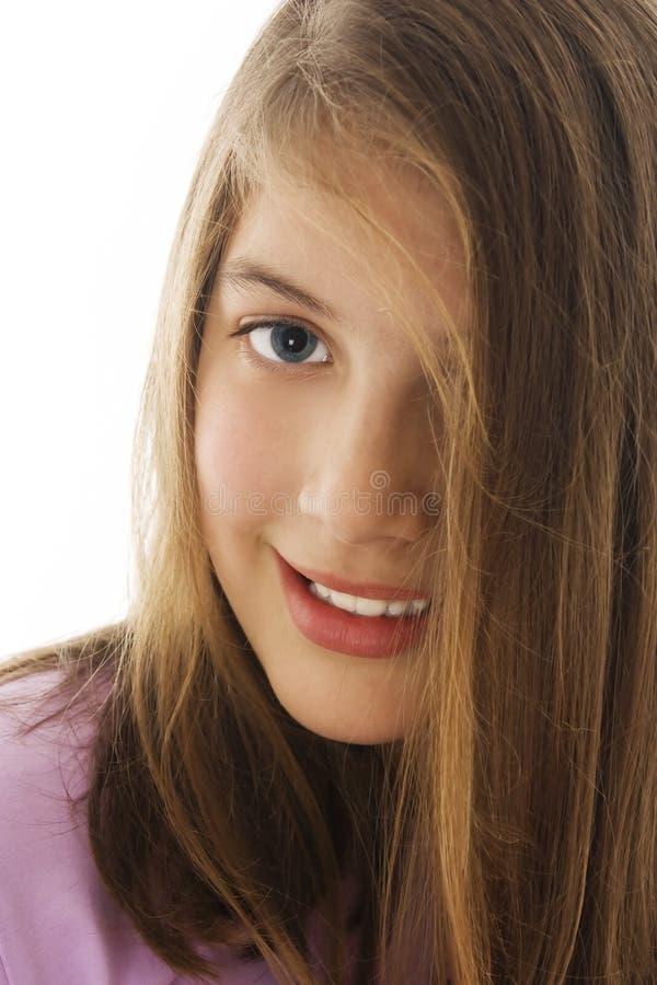 Belle fille de sourire photographie stock libre de droits
