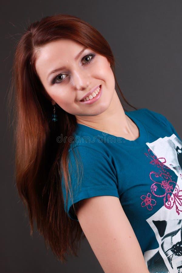 Belle fille de sourire image libre de droits