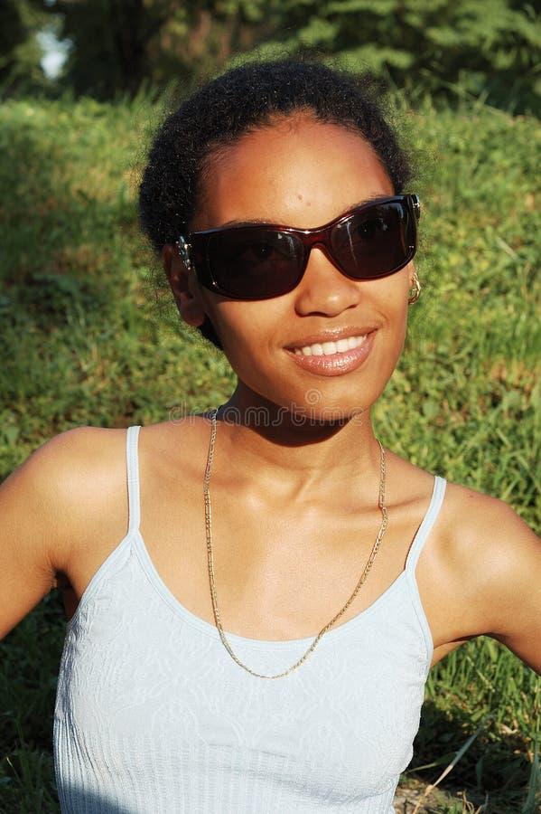 Belle fille noire photographie stock libre de droits