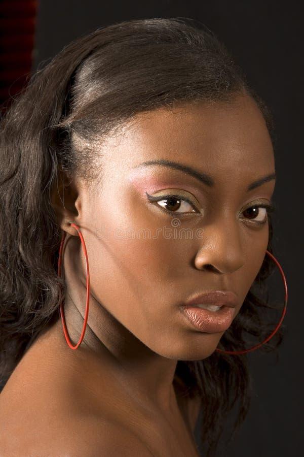 Belle fille noire (verticale) photo stock