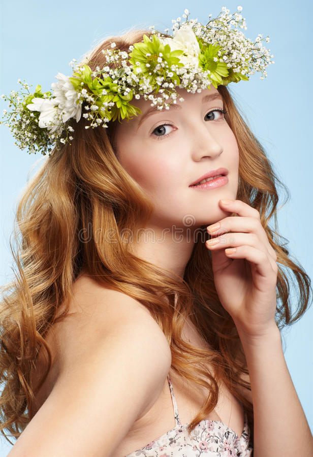 Belle fille rousse photos stock
