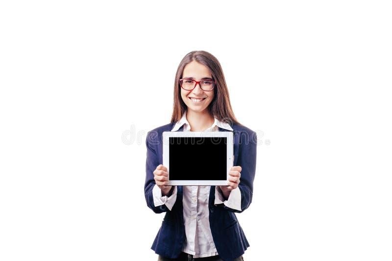 Belle fille sur le fond blanc photos stock