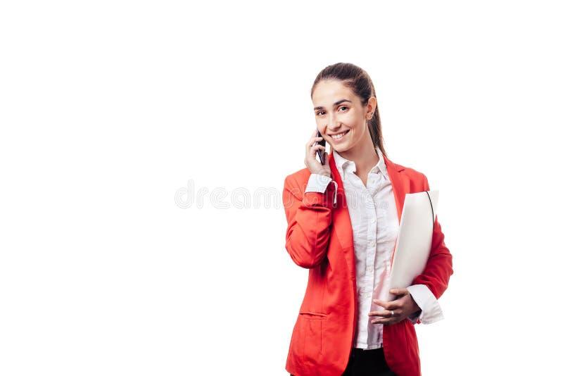 Belle fille sur le fond blanc photo libre de droits