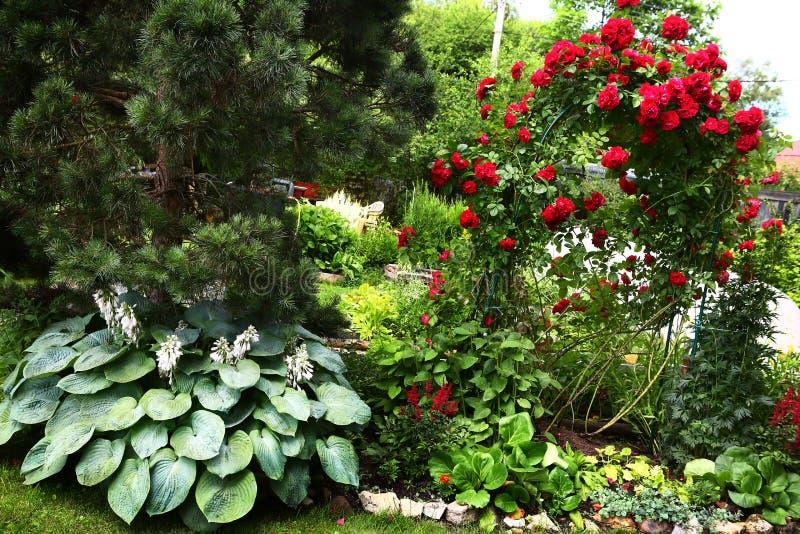 Belle fin de jardin formel vers le haut de photo image stock