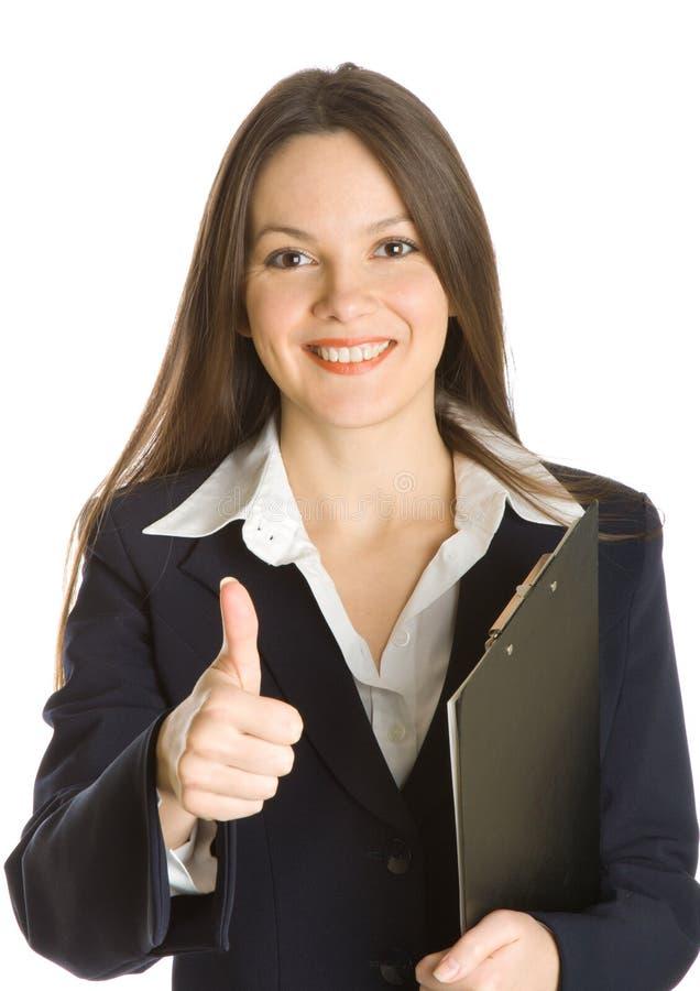 belle fixation de planchette de femme d'affaires photos libres de droits