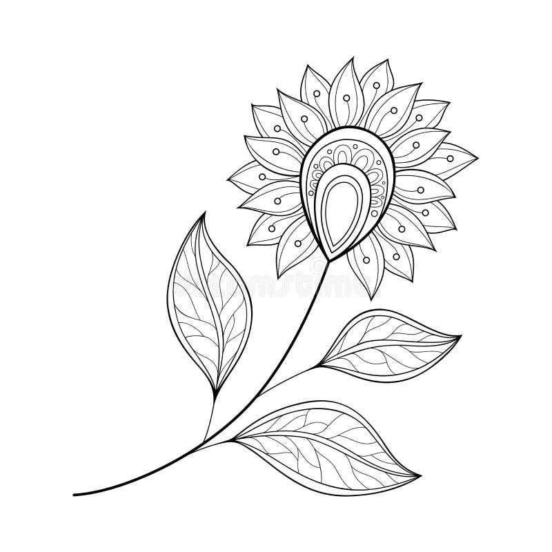 Download Belle Fleur Monochrome De Découpe De Vecteur Illustration de Vecteur - Illustration du beau, salutation: 56480099