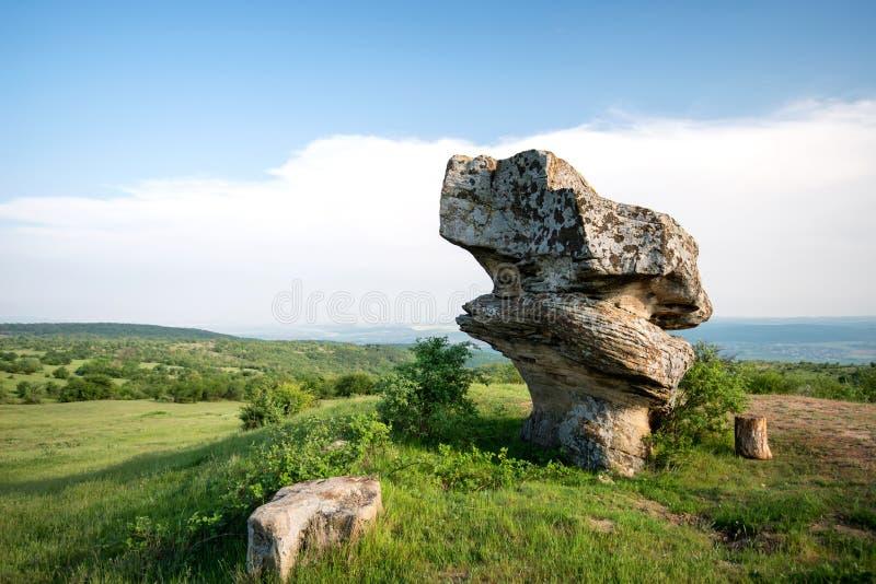 Belle formation de roche de phénomène naturel - champignon images stock