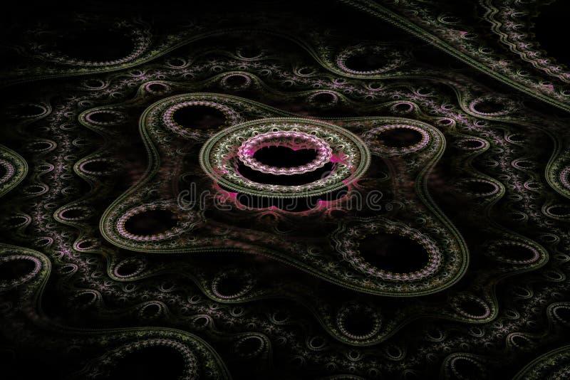 Belle fractale ronde rose-clair image libre de droits