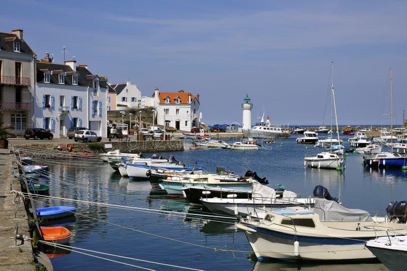 belle France ile portu sauzon zdjęcie royalty free