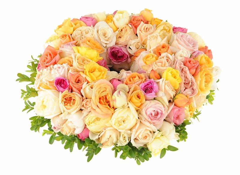 Belle guirlande des roses photos libres de droits