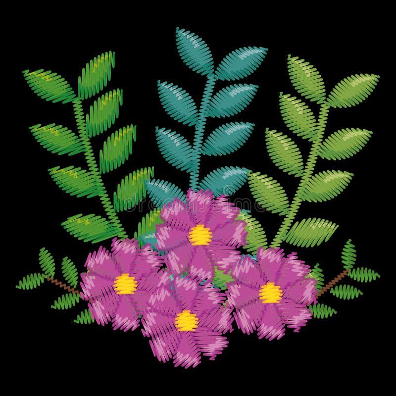 Belle icône florale de décoration photos stock