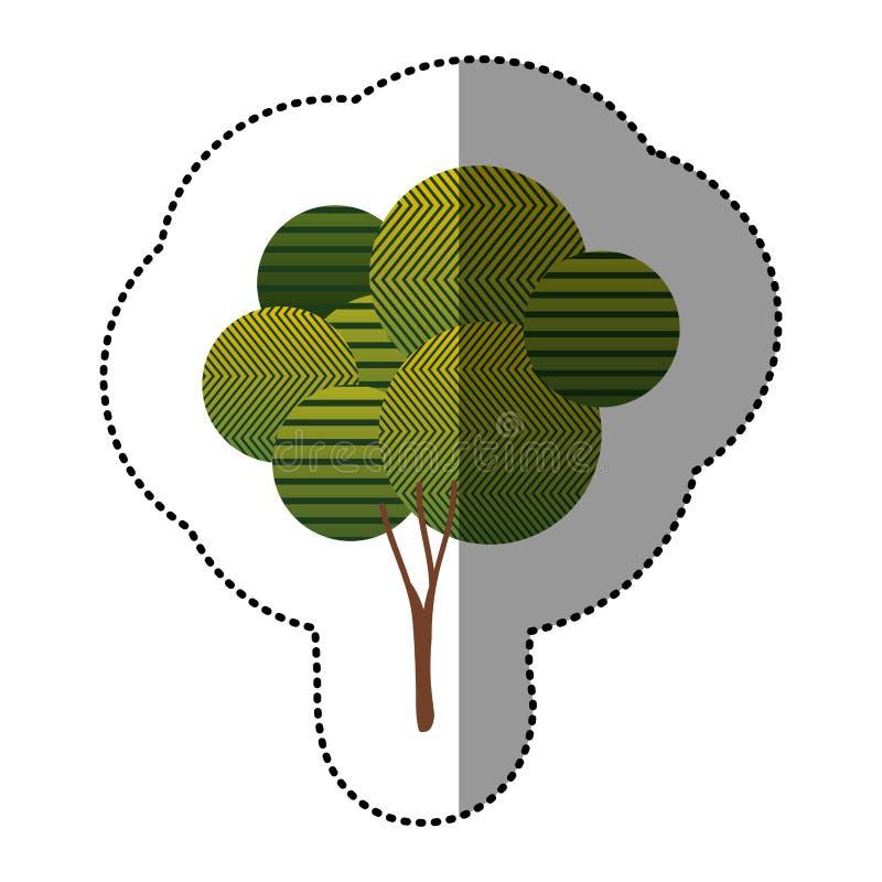 Download Belle Icône D'arbre D'autocollant Illustration Stock - Illustration du organique, graphisme: 87705483