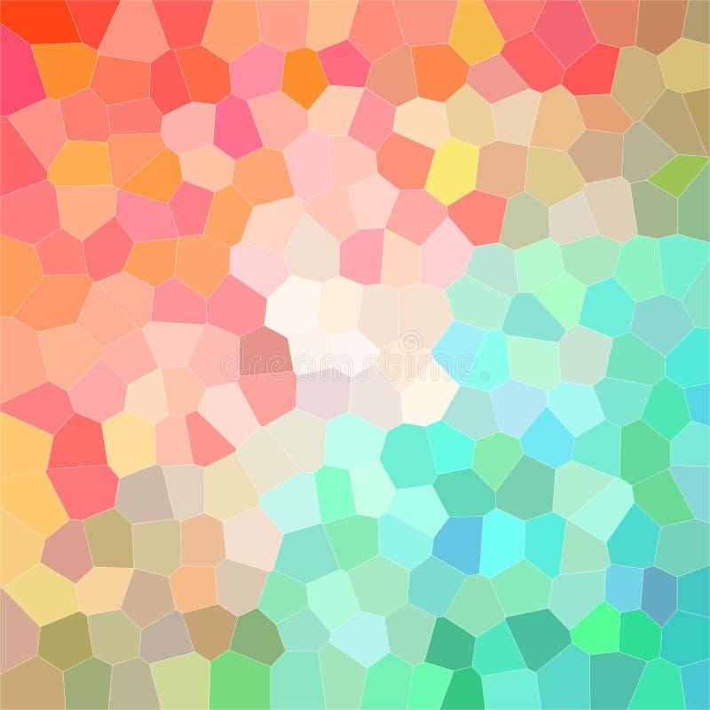 Belle illustration abstraite de l'hexagone moyen lumineux de vert, bleu et rouge de taille Beau fond pour votre travail illustration de vecteur