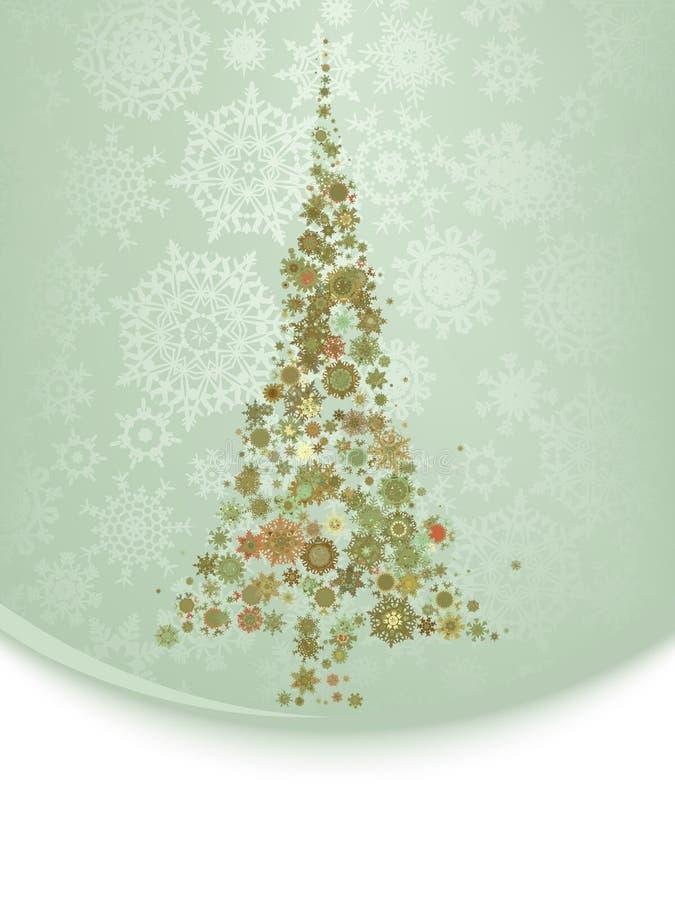 Belle illustration d'arbre de Noël ENV 8 illustration stock
