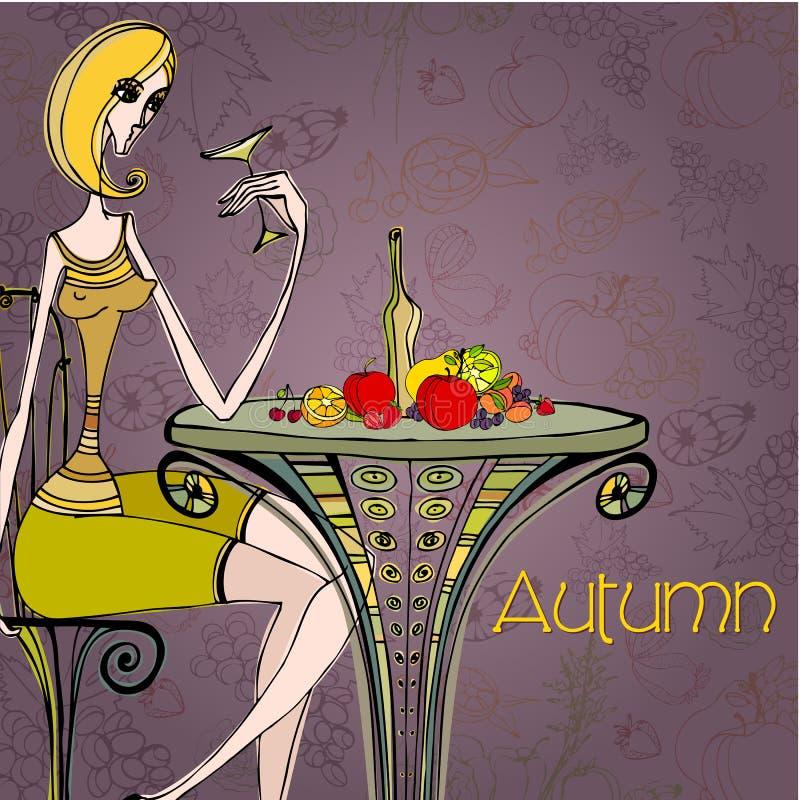 Belle illustration d'automne illustration libre de droits