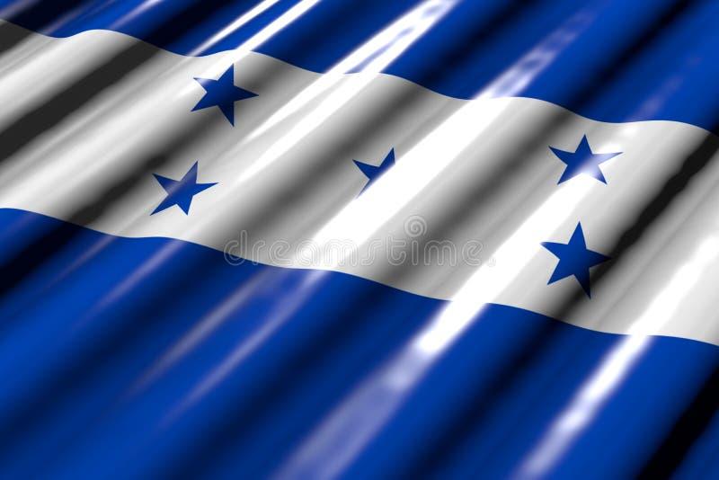 Belle illustration du drapeau 3d de festin - brillante - ressembler au drapeau en plastique du Honduras avec la diagonale plate m illustration de vecteur