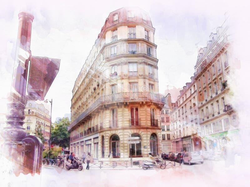Belle image de Paris illustration de vecteur