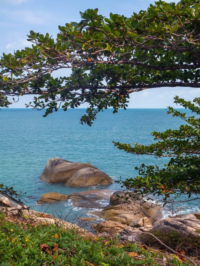 Belle immagini sull'isola di Phangan fotografia stock