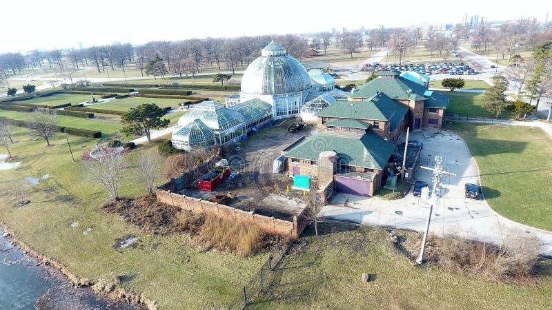 Belle Isle Aquarium en Serre--Detroit stock foto