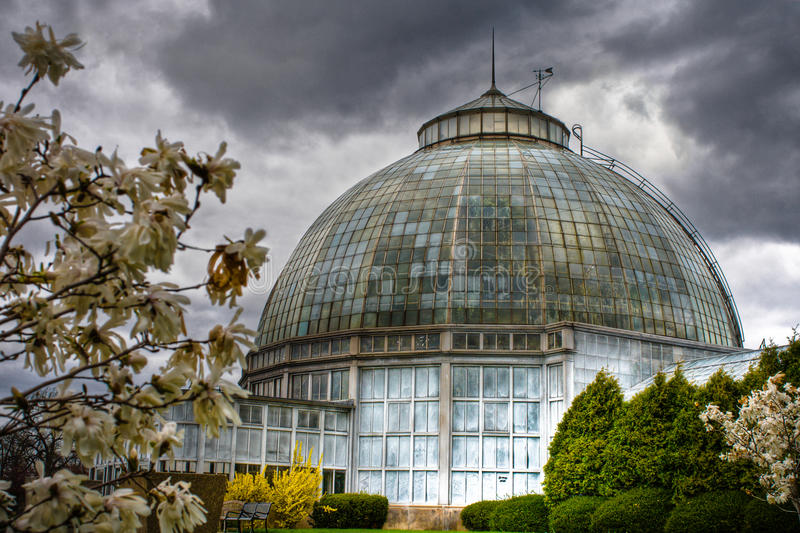 Belle Isle Conservatory in Detroit, Michigan royalty free stock photo