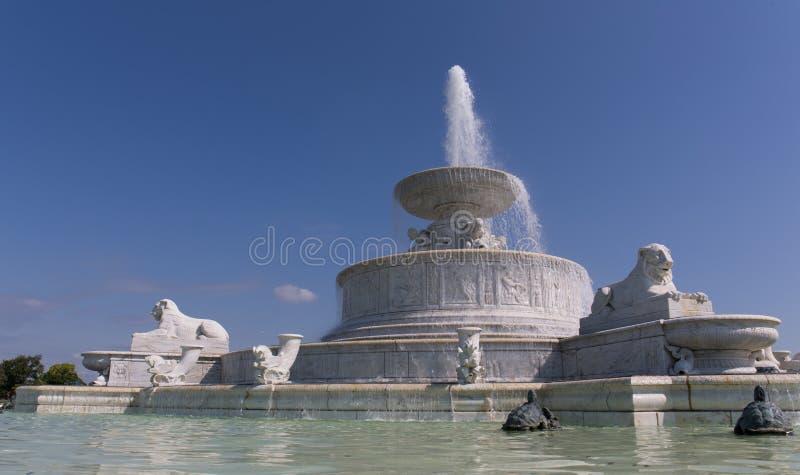Belle Isle Fountain arkivbild