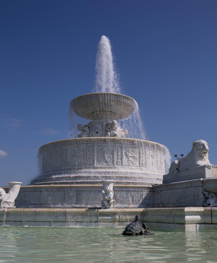 Belle Isle Fountain royaltyfri foto