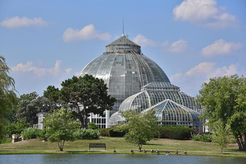 Scripps Whitcomb Conservatory in Detroit royalty free stock photo