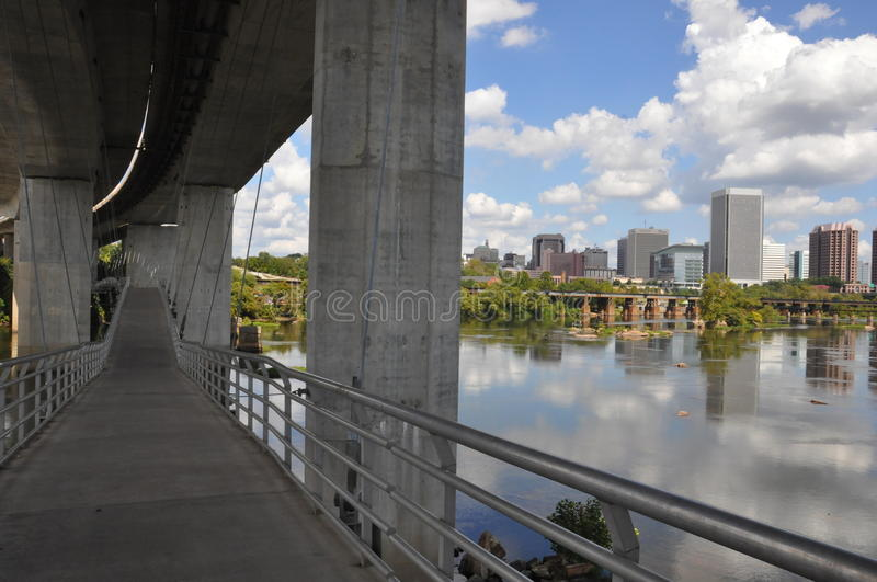 Belle Isle Pedestrian Bridge in Richmond, Virginia royalty-vrije stock foto