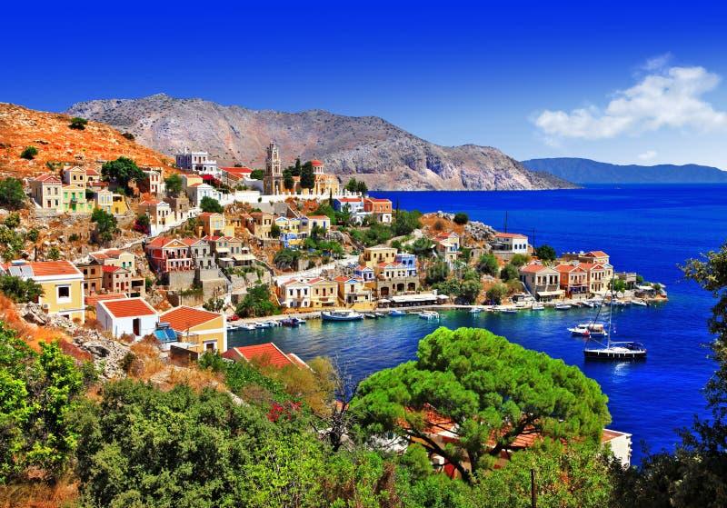 Belle isole greche - Symi immagini stock