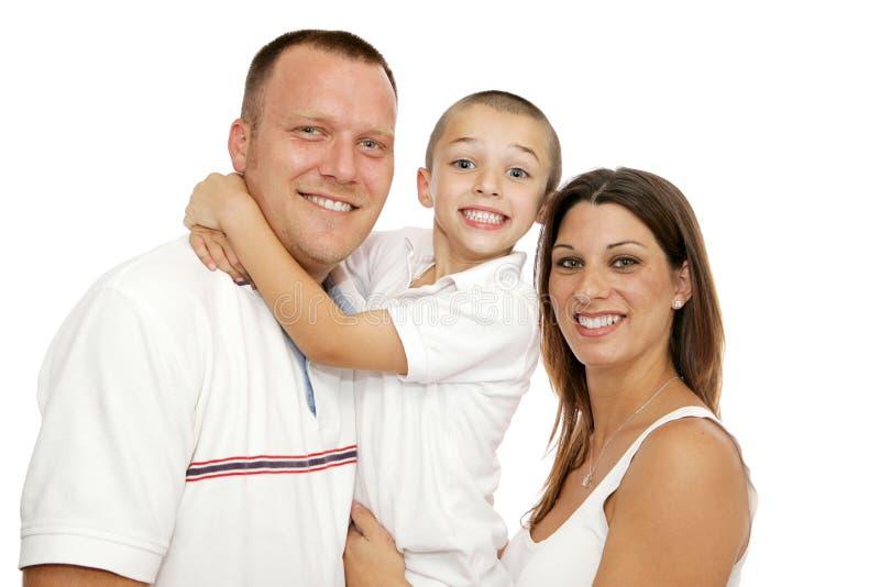 Belle jeune famille photographie stock libre de droits