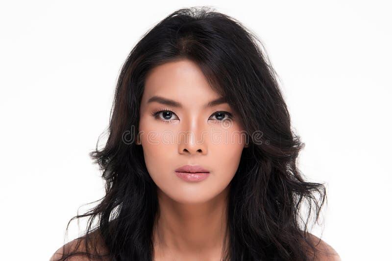 Belle jeune femme asiatique avec la peau fraîche propre images libres de droits