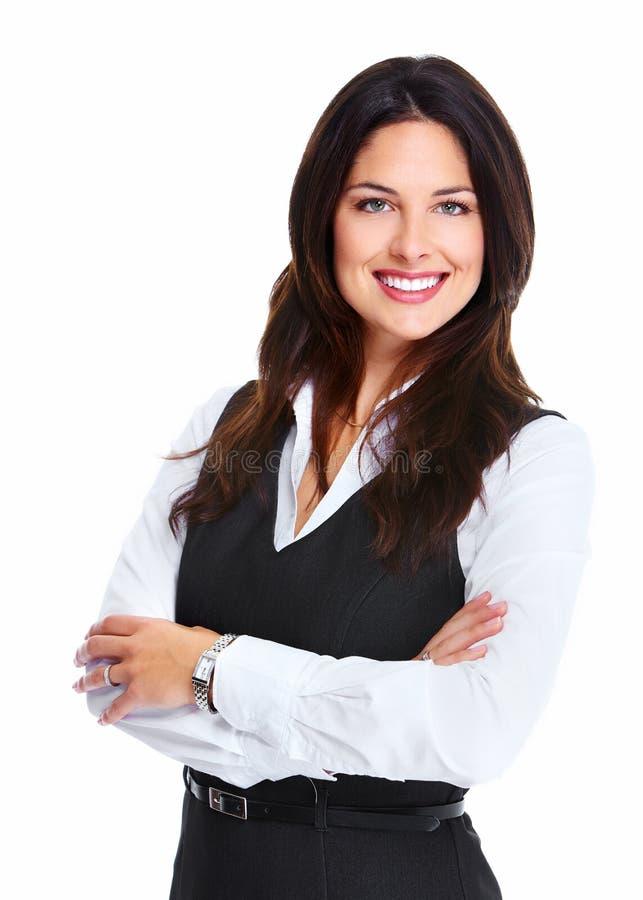 Belle jeune femme d'affaires. images libres de droits